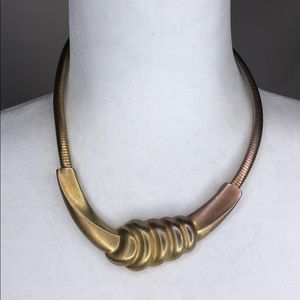 Vintage don-line gold tone statement necklace
